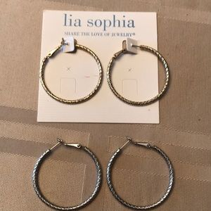 Lia Sophia textured hoops